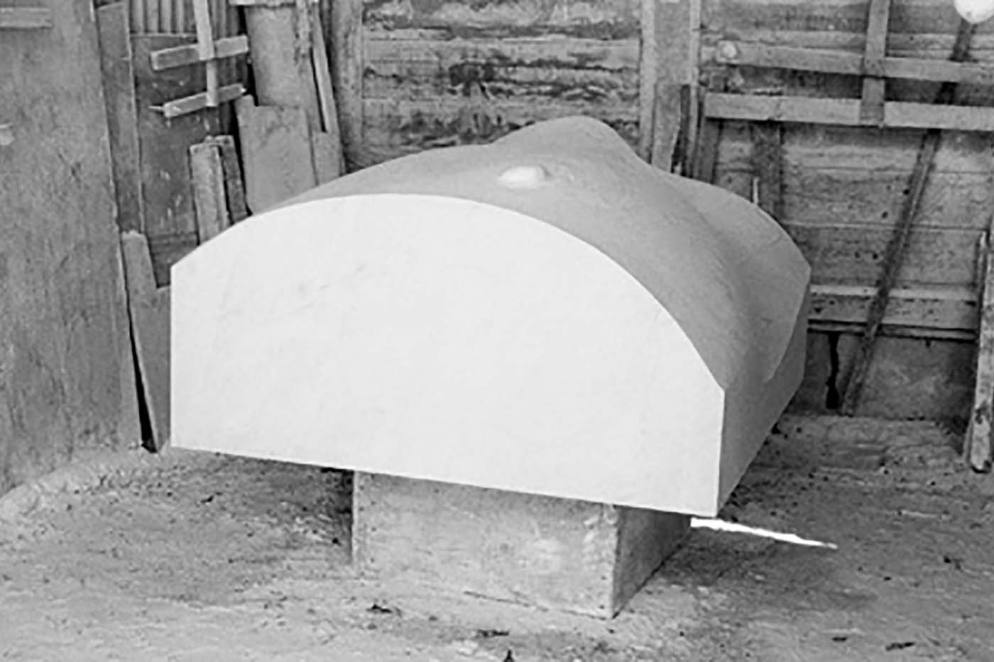 12_Grosser Wuerfel, Bianco Carrara [2000]