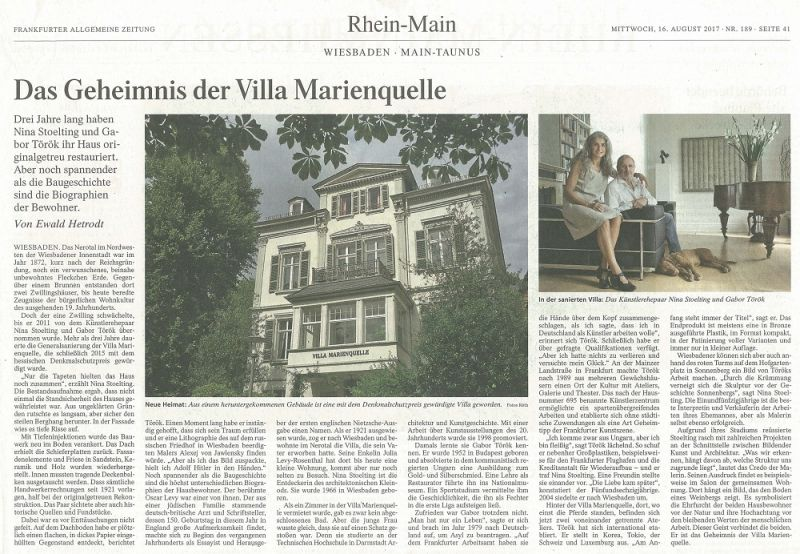 160817 FAZ – Villa Marienquelle