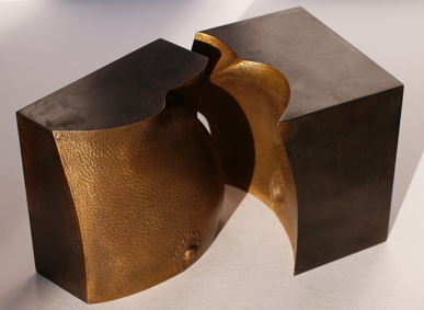 45_Knospe I (Busen), 2010, Bronze, 13,5 x 13,5 x 13,5 cm