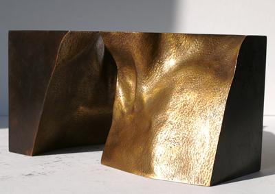 47_Felsen I (Hals), 2010, Bronze, 13,5 x 13,5 x 13,5 cm