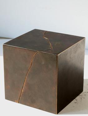 48_Felsen I (Hals), 2010, Bronze, 13,5 x 13,5 x 13,5 cm