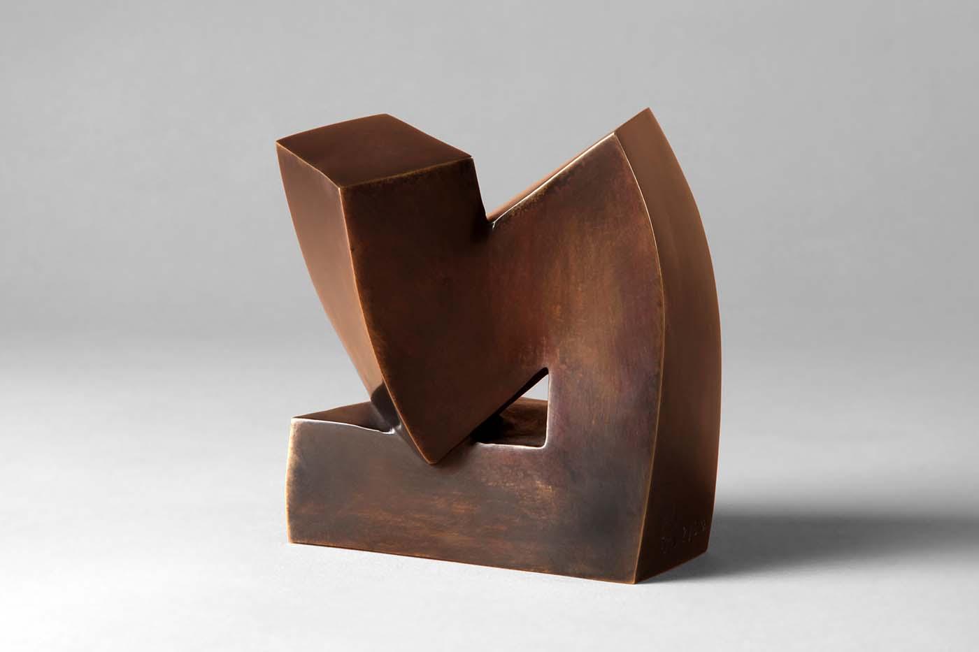 Der Denker, 2013, Bronze, 10,5 x 8 x 8 cm